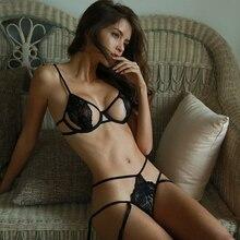 Ren Siêu Mỏng Nội Y Điều Chỉnh Dây Đeo Đẩy Lên Xem Qua Áo Ngực Và Quần Bộ Quần Lót Dùng Thân Thiết Đồ Lót Nữ