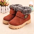Meninos Meninas Crianças Botas de Neve de peles botas de Inverno Tornozelo Sneakers Crianças quentes Martin botas Flats Oxford de Camurça Sapato De Couro criança