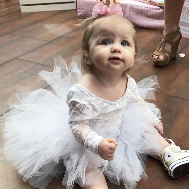 1b21cf4cfb7fe0 Emmababy baby Girl bodysuit 2017 Summer Kids Girls long sleeve lace balk  and white bodysuits Dress bebe Jumpsuit Clothes