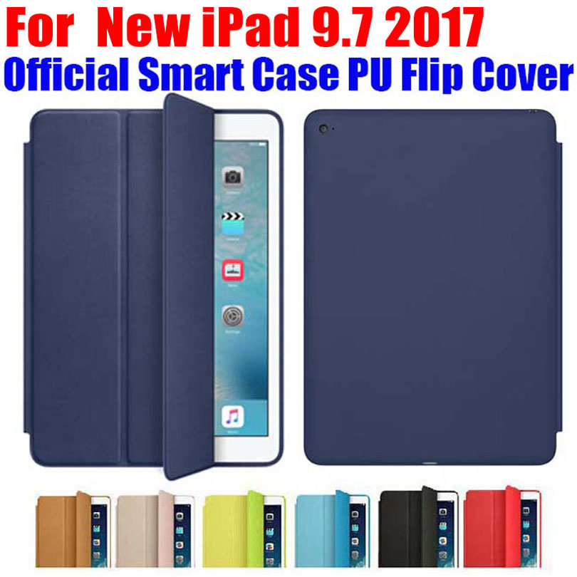 20X DHL Free official Design Smart Case For Apple iPad Pro 9.7 inch Ultra thin PU Leather Flip Cover For iPad 9.7 2017 ID701