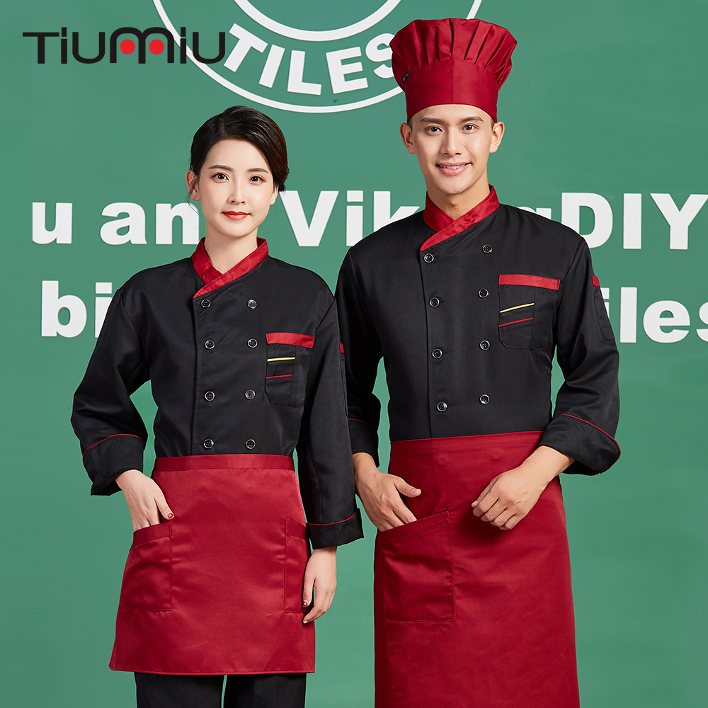 2018 Men Women Catering Long Sleeve Chef Uniforms Restaurant Hotel Waiter Chef Cuisine Kitchen Cooking Jackets Overalls Clothing