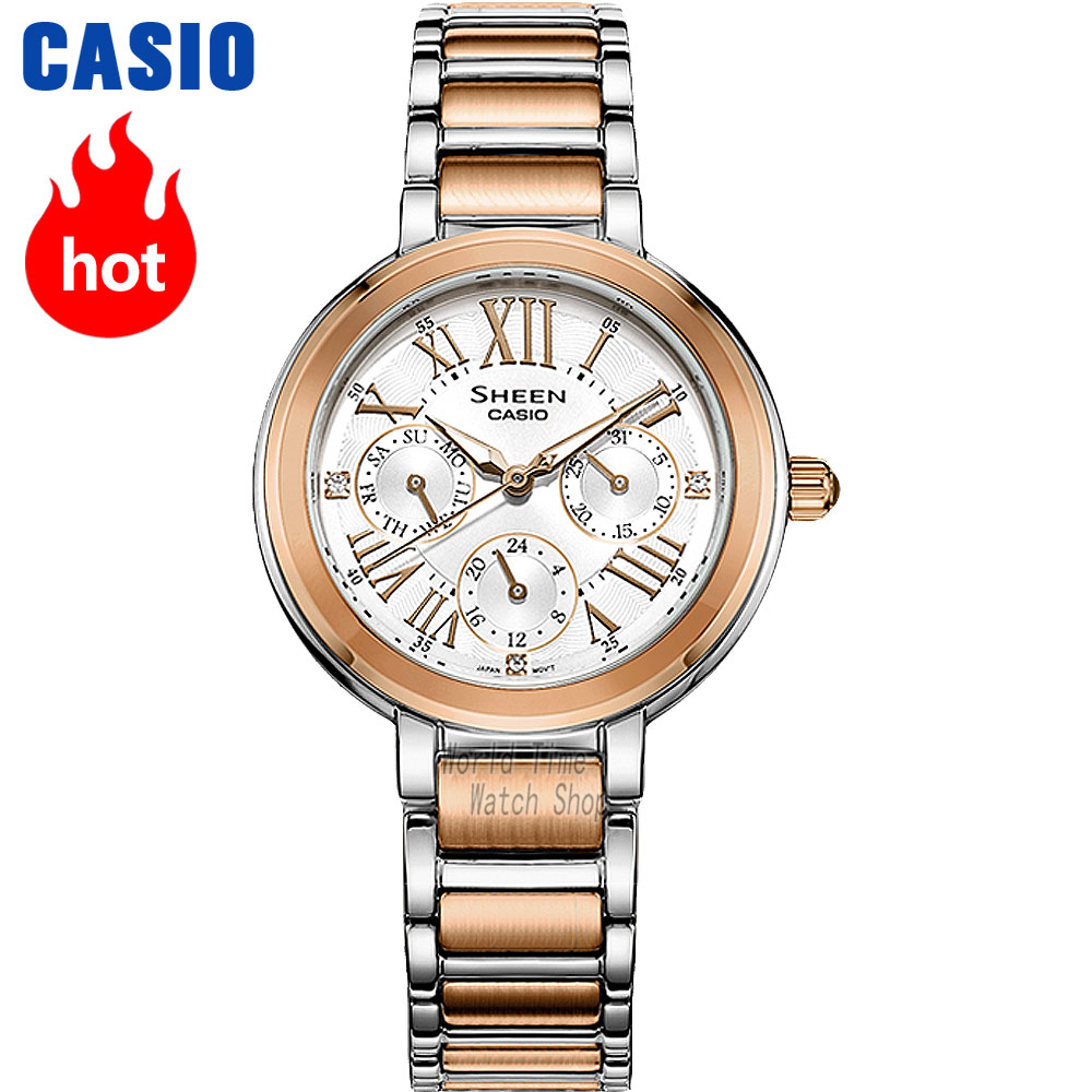 Casio watch Fashion business urban women table SHE-3034SPG-7A SHE-3034D-7A SHE-3034GL-4A SHE-3034GL-7B SHE-3034SG-7A casio she 5020l 7a