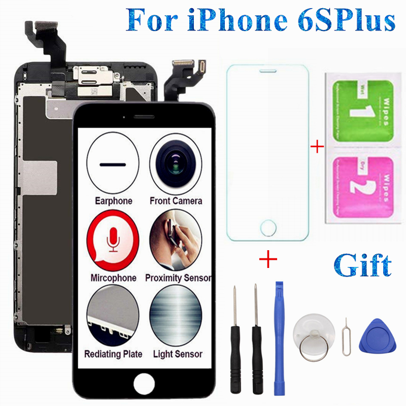 1PCS Full Set LCD For iPhone 6 6S Plus LCD Display Touch Screen Full Assembly Replacement No Dead Pixel For iPhone 5S LCD Screen image