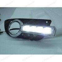 2pcs/lot auto 12v daytime running lights For M/itsubishi L/ancer EX 2010 2012 led light car accessory