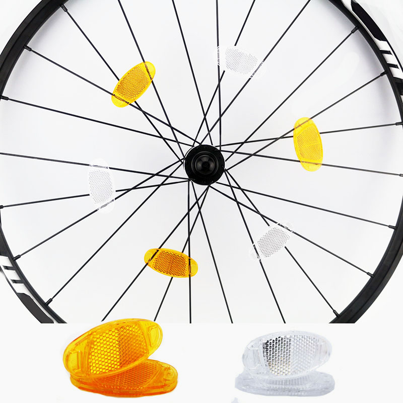 """Red Yellow Long Bike Bicycle Spokes Tires NEW! SUNLITE 10/"""" Wheel Reflector Set"""