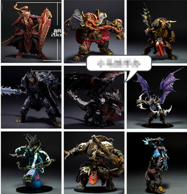 Wow Arthas Menethil The Lich King illidan Stormrage Deathwing Sylvanas vashj Priestess action Figure Collection Model 1