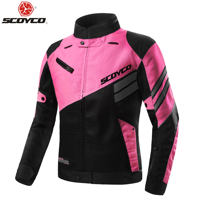 2018 Summer SCOYCO Women s coat mesh Motorcycle riding suit Jackets knight Crash proof suit Motorbike