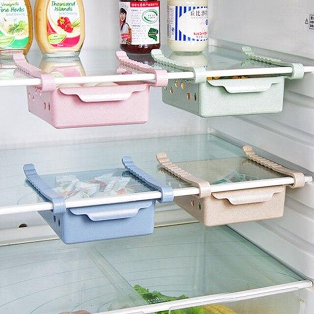 Urijk Creative Useful Refrigerator Storage Box Kitchen Accessories Space-saving Cans Finishing Four Case Organizer & Urijk Creative Useful Refrigerator Storage Box Kitchen Accessories ...