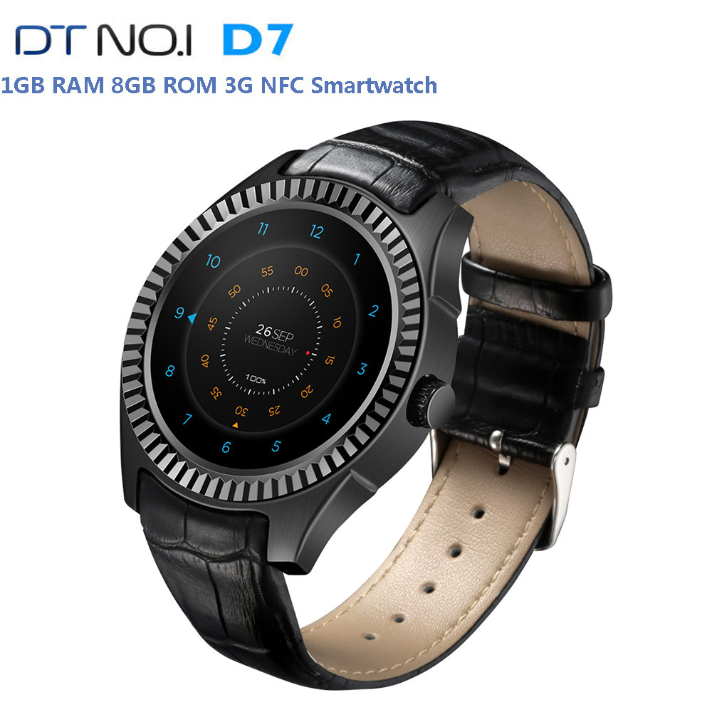 Original DTNO.I D7 3G Phone Call Smart Watch IP65 Waterproof NFC Bluetooth WIFI Android Watch GPS 8GB Healthy Monitor Smartwatch potino d7 smart watch android 4 4 sim bluetooth 4 0 smartwatch 500mah gps wifi 3g heart rate monitor smart wearable devices
