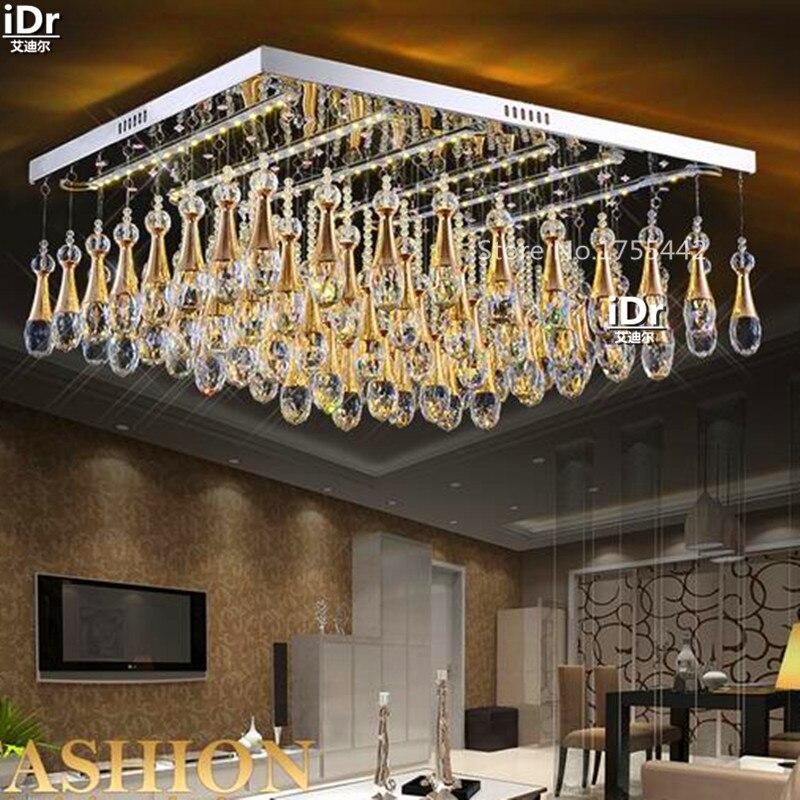 flat crystal lamp led light square modern minimalist living room bedroom den lighting fixtures ceiling lights