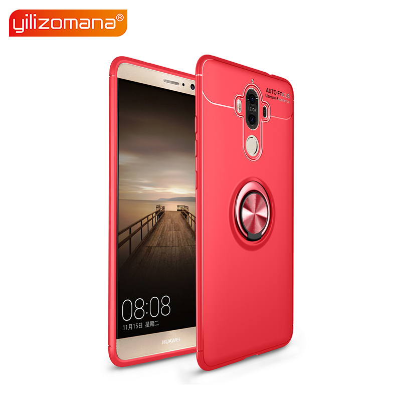 YILIZOMANA Soft TPU Phone Case Magnetic Car Ring Holder Back Cover for HUAWEI Nova 2 2S 3 3i Mate 9 10 20 Pro Lite 20X in Half wrapped Cases from Cellphones Telecommunications