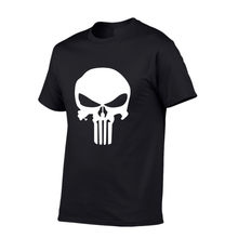 Compression Shirt Movie Printed T-shirts Men Raglan Short Sleeve T shirt Punisher Cosplay Costume Slim Fit Clothing Tops Male(China)