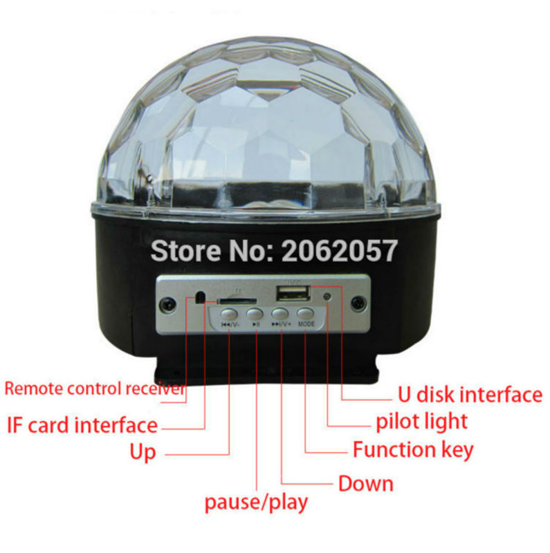27W LED Bluetooth magic ball disco DJ remote control ball light stage effect soundlights Christmas project laser party lights in Stage Lighting Effect from Lights Lighting
