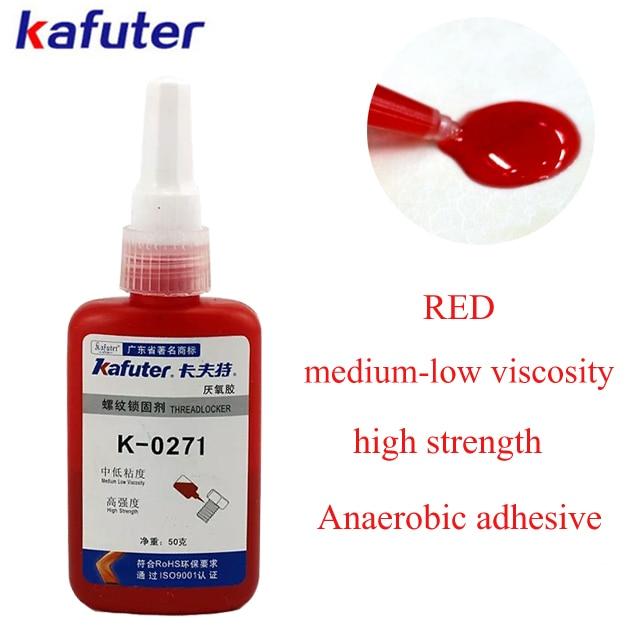 Kafuter 50G K-0271 Screw glue Anaerobic adhesive thread locking adhesive Medium viscosity High strength threadlocker зарядное устройство для аккумулятора prorab striker 4