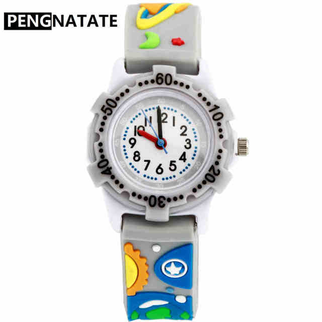 student sweet waterproof girls wrist kids leather cartoon montre sport watch enfant boys watches starp kezzi products children