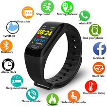 цены на LIGE Fitness Smart Bracelet Men Women Sport Wristband Pedometer Tracker Heart Rate Monitor IP67 Waterproof Watch For IOS Android  в интернет-магазинах