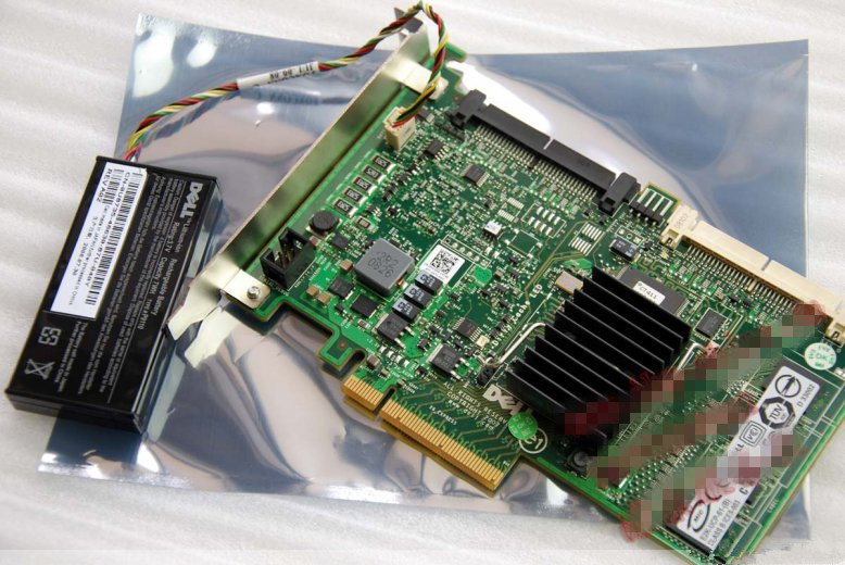 US $33 88  High Quality PERC 6I RAID6 SAS RAID CONTROLLER PCI E Card Card  for Dell Poweredge with battery and bracket-in Computer Cables & Connectors