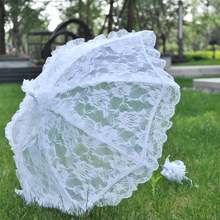 white  Colors Bride Wedding Lace Umbrella Parasols Beach