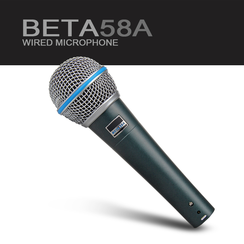 New box!!!New lable!!!Top Quality!!!New Beta 58 58A Clear Sound Handheld Wired Karaoke Microphone new
