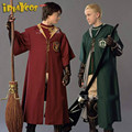 Harry Potter Adult Robe Cloak Gryffindor Slytherin Quidditch Halloween cosplay costume mantle 2017 fashion cosplay costume