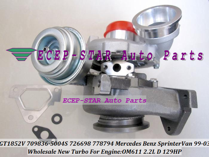 GT1852V 709836-5004S 709836 726698 778794 Turbocharger For <font><b>Mercedes</b></font> <font><b>benz</b></font> Sprinter Van <font><b>211</b></font> 311CDI 411CDI 1999-03 OM611 2.2L 141HP image