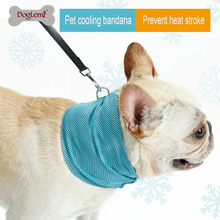 Instant Ice Cooling Dog Bandana Scarf for Pet Small Dogs Bulldog Summer Polyester Sunstroke Towel Neck Wrap Collar