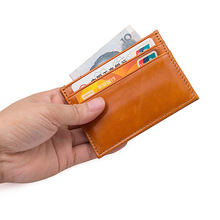 AOEO Minimalist wallet Super Slim card holder Unisex business men id credit card holder women bank card holder card protector
