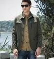 Euro 2016 plus size cotton M-4XL men jacket high end quality autumn winter fashion turn down collar slim leisure outerwear T77
