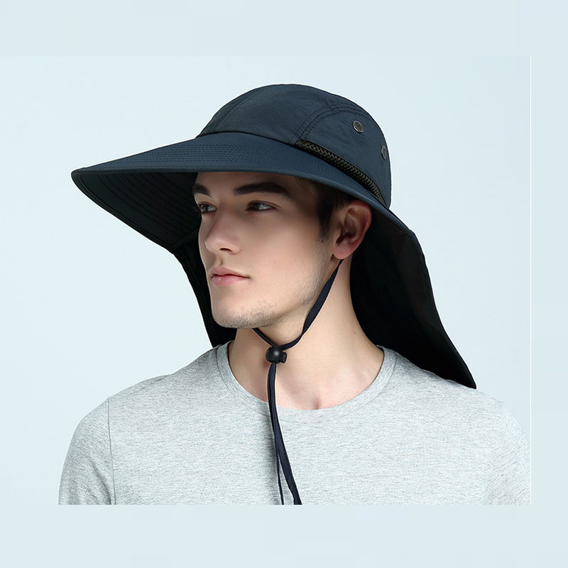 c200d458 Fishing Caps Mens Wide Outdoor Hats Anti UV Sunshade Sun Protection  Windproof Waterproof Heat Insulation for