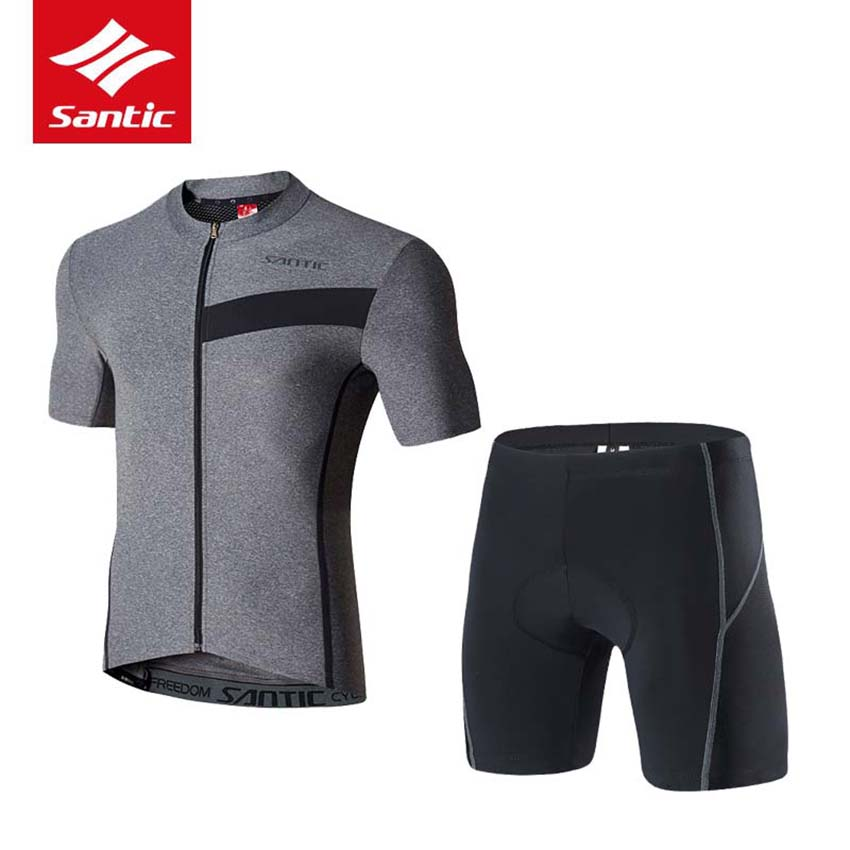 Santic Men Cycling Jersey Set MTB Road Bike Jersey Summer Short Sleeve Breathable Imported Pad Bicycle Clothing Ropa Ciclismo купить