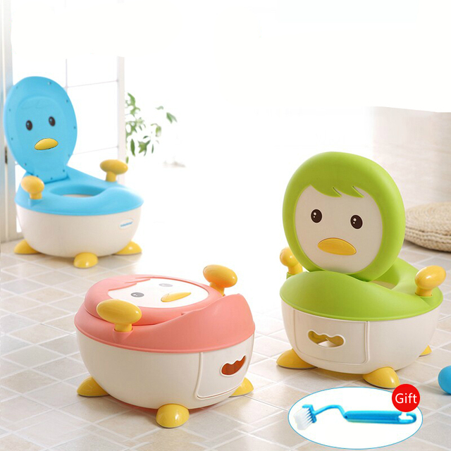 Hot Selling Baby PenguinToilet Girls Boys Baby Potty Toilet Urinal Portable Bedpan Children Drawer Type Potties Stool Seat