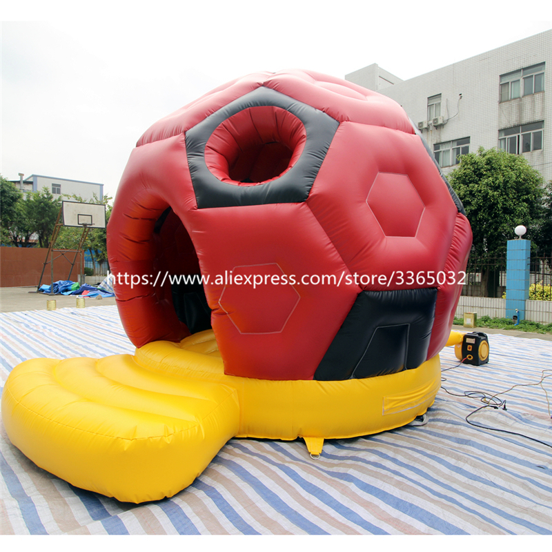 Commercial inflatable football bouncer soccer bounce house for kids