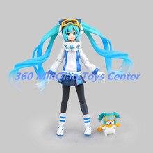 Hatsune Miku Figma EX-030 Snow Miku Snow Owl Ver. PVC Action Figure Collectible Model Toy 14cm RETAIL BOX WU729