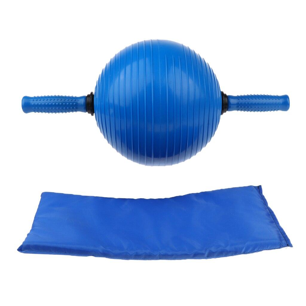 Poignées antidérapantes outil d'exercice de forme physique de balle d'exercice d'entraîneur Abdominal avec le costume de genouillère pour la maison, le gymnase, ou le bureau