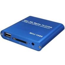 ЕС Plug 1080 P мини Hdd hdmi-медиапроигрыватель Av Usb хост Full Hd с Sd карт-ридер Поддержка H.264 Mkv Avi 1920x1080 P 100 Mpbs