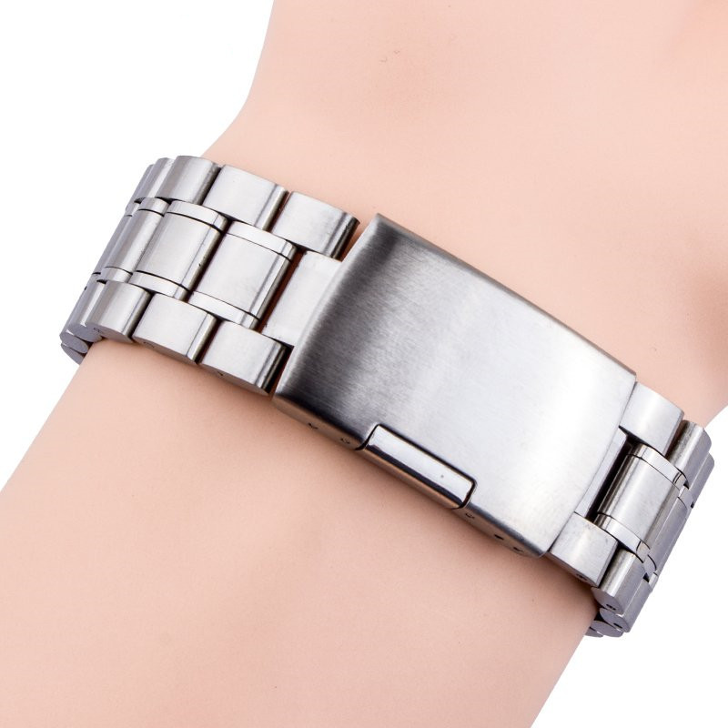 Solid Stainless Steel Watch Bracelet Watch Band Straps 18mm 19mm 20mm 21mm 22mm Flat End Folding Buckle цены