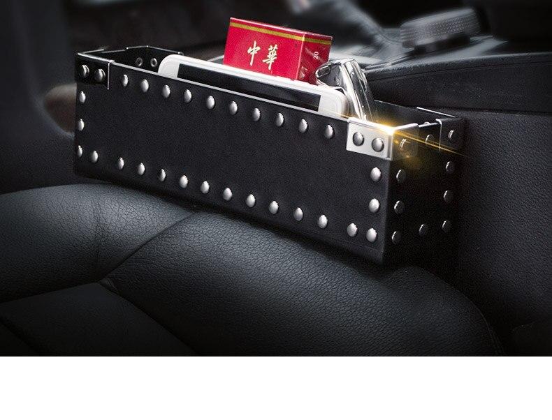 Rivets Storage Box Car Organizer on Seat Gap