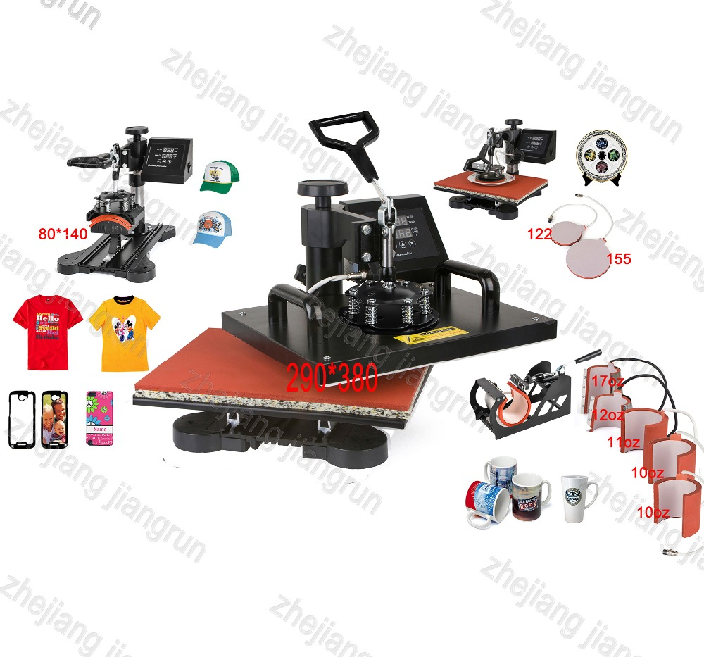 New Design 9 In 1 Combo Heat Press Machine,110V-240V Heat Transfer/Sublimation Machine,sublimation printer for Mug/Cap/TShirt Et 1 pcs 38 38cm small heat press machine hp230a