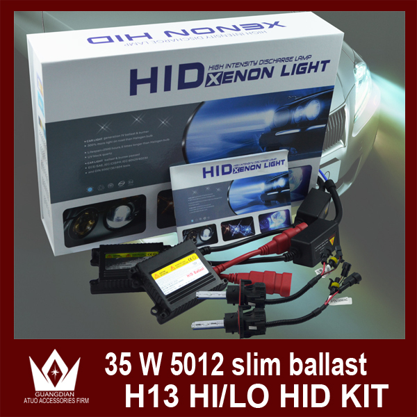 ФОТО Night Lord 35W H13 HID KIT H13 Bi-Xenon HID KIT bulb H13 HID Retractable lamp with 35W silm ballast  Free Shipping