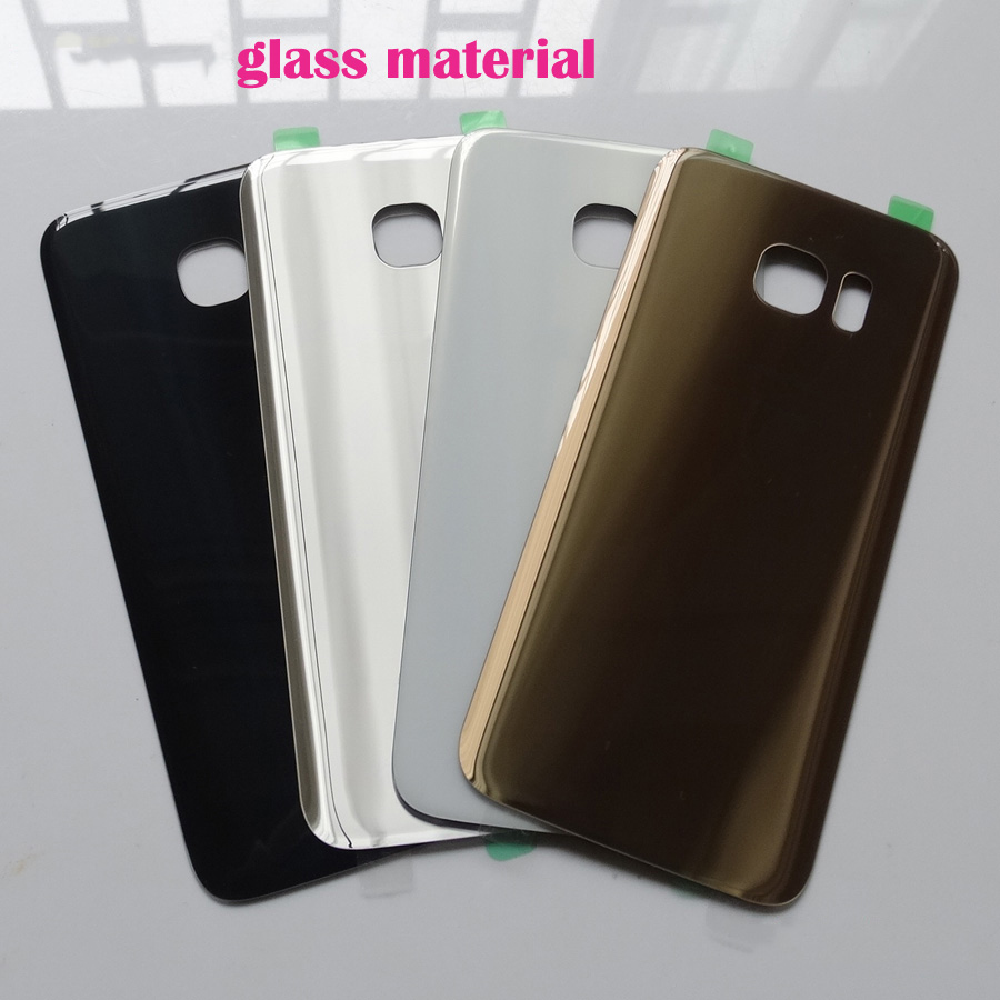 Glass Material New Rear Battery Door Case For Samsung Galaxy S7 G930 G930F S7 Edge G935 G935F Back Glass Housing Cover +Adhesive