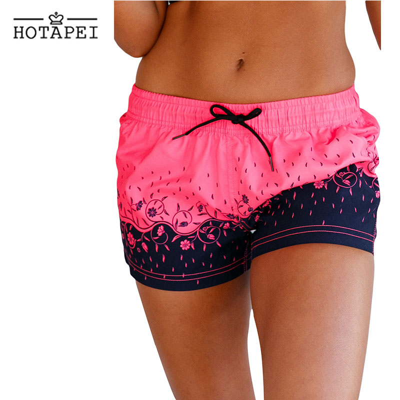 hotapei Floret Printed Swim Shorts Surfing and Diving Quick Dry Shorts LC410280 Women 2018 new Swimming Water Sports Beach wear 2017 new mens swimming professional swimwear one piece boys sports quick dry elastic surfing assorted colors bodysuit ventilate