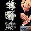 500 Шт. Nail Art Ferrari Стиль Треугольник Французские Flase Советы-Белый Ясно Природных