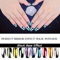 2g New Super Espelho Holographic Prego pó Glitter Magia Pó pigmento Ferramentas DIY Nail Art Decorações de Lantejoulas Chrome Pigmento