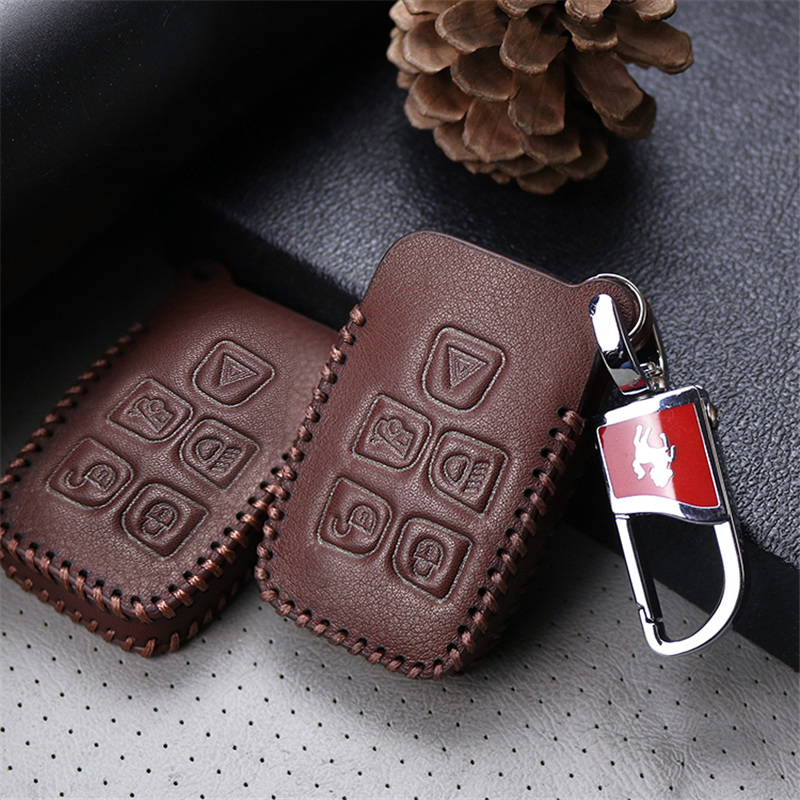Car Key Cover Case For Land Rover Discovery Sport 2 3 4 5 Freelander Defender Genuine Leather Key Ring Shell car Accessories