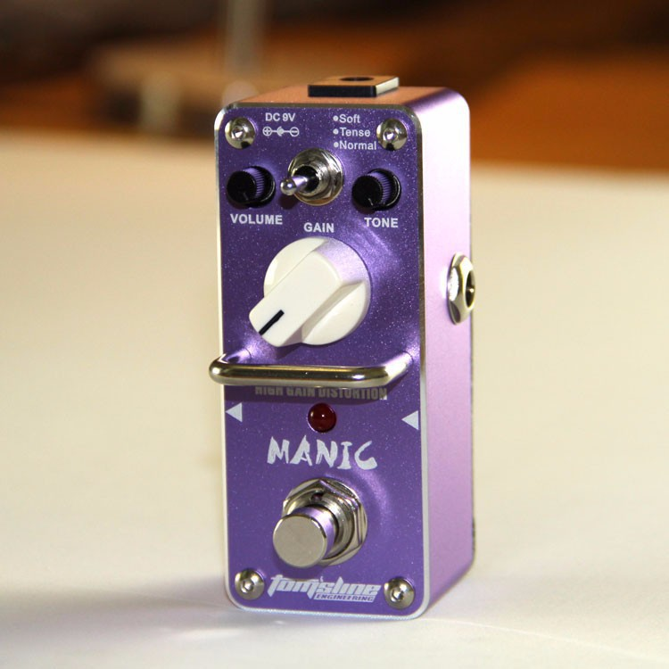 AROMA AMC-3 MANIC High gain distortion Mini Analogue Effect True Bypass amc 3 manic high gain distortion guitar effect pedal aroma mini analogue pedals purple color true bypass guitar parts