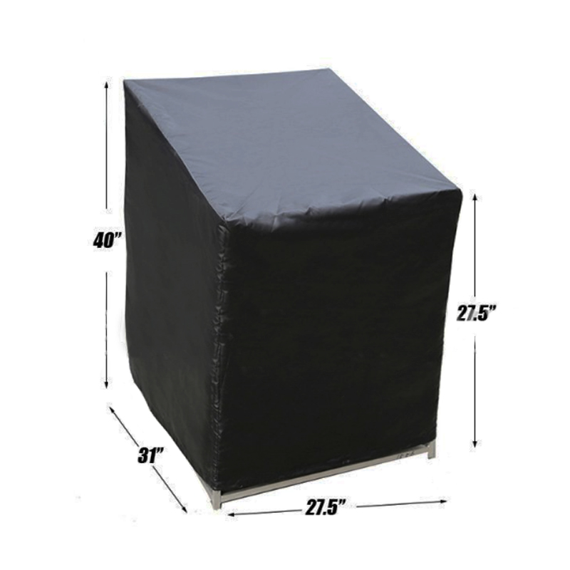 Outdoor Garden Party Black Polyester Table Chair Dust Cover Weatherproof Patio Furniture Rain Prevention Protector Bag FV001 4