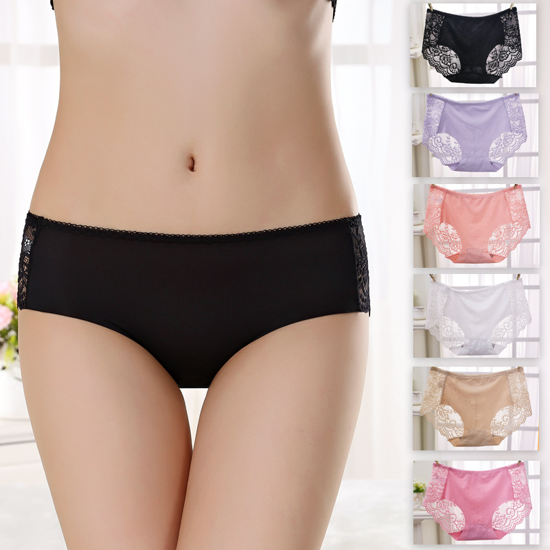 35eab2737102 GZDL 2017 New Style Hot Sale Women Sexy Seamless Comfy Lace Panties Briefs  Underwear Lingerie Knickers Thongs 6 Colors NY270-in women's panties from  ...
