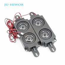 2pcs 8R 10W 45*150*21MM Multimedia Double Diaphragm Speaker For Advertising With Wire Embedded Box Loudspeaker PU Edge Black Cap