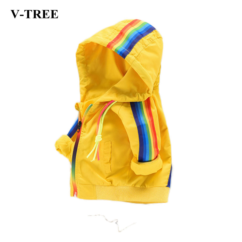 Autumn Winter Jacket For Boys Rainbow Child Outerwear Girls Hooded Jacket Colored Baby Outerwear Toddler Raincoat сумка nano de la rosa nano de la rosa na003bwbyty3
