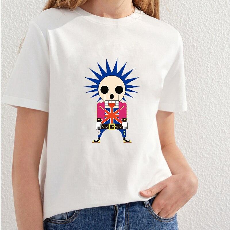 2018 Vacker Skull Utskrift T-shirt Kvinnor Fashion Streetwear T-shirt - Damkläder - Foto 2